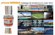 Catálogo de tendencias en Color Pinturas Naranja