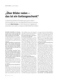 """""""Über Bilder reden – das ist ein Gottesgeschenk"""" - Brusberg Berlin"""