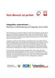 Kein Mensch ist perfekt Integration unternehmen