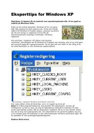 Eksperttips for Windows XP - TVU-INFO