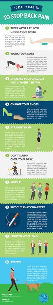 10 Daily Habits to Stop Back Pain