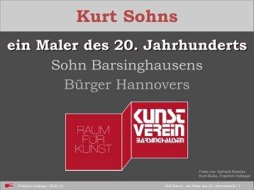 Kurt Sohns ein Maler des 20. Jahrhunderts