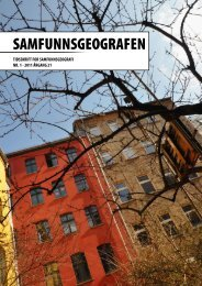 SAMFUNNSGEOGRAFEN - Foreninger Uio - Universitetet i Oslo