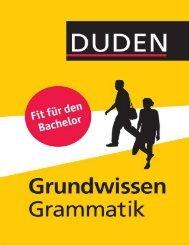 Duden, Fit für das Bachelorstudium - Grundwissen Grammatik