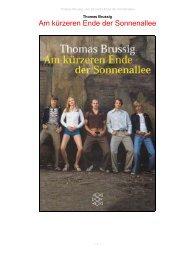 Am kürzeren Ende der Sonnenallee, Thomas Brussig - Originall