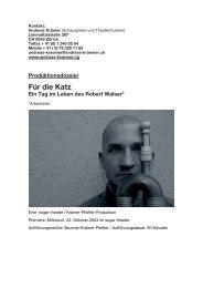 Robert Walser - Andreas Krämer