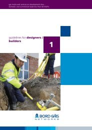 guidelines for designers / builders - Bord Gais Networks