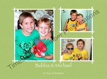 Bubba Photo Book