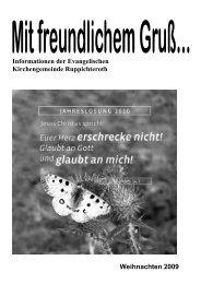 Informationen der Evangelischen Kirchengemeinde Ruppichteroth ...