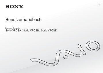 Sony VPCSE2K9E - VPCSE2K9E Mode d'emploi Allemand