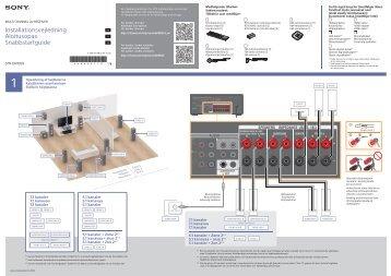 Sony STR-DN1050 - STR-DN1050 Guida di configurazione rapid Finlandese