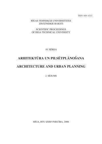arhitektūra un pilsētplānošana architecture and urban planning