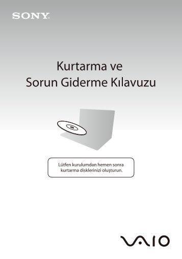 Sony VGN-Z51XG - VGN-Z51XG Guide de dépannage Turc