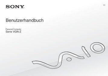 Sony VGN-Z51XG - VGN-Z51XG Mode d'emploi Allemand