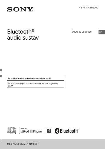 Sony MEX-N4100BT - MEX-N4100BT Consignes d'utilisation Croate