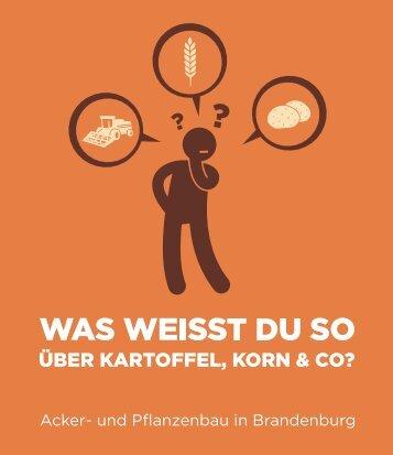 Acker- und Pflanzenbau in Brandenburg