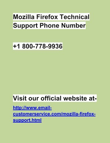 How to update Mozilla Firefox Settings? Dial 1-800-778-9936