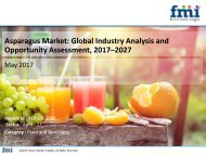 Asparagus Market Poised for Robust CAGR of over 3.1% through 2027