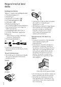 Sony HDR-CX350VE - HDR-CX350VE Consignes d'utilisation Danois - Page 2