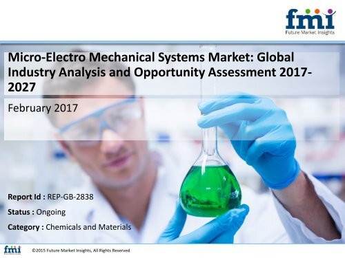 Micro-Electro Mechanical Systems Market Industry Analysis and Trends 2027