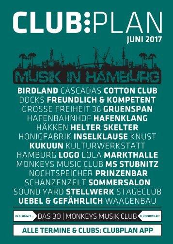Clubplan Hamburg - Juni 2017