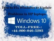 How to Fix Windows 10 Update Problems in HP laptops? | HP Technical Support Number