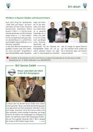 BJV aktuell BJV Service GmbH - Landesjagdverband Bayern