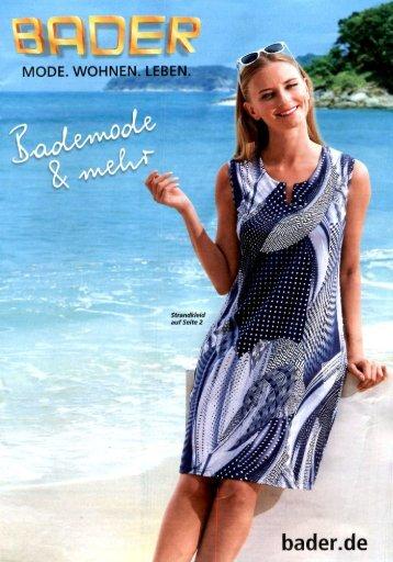 Каталог Bader Badermode весна-лето 2017. Заказ одежды на www.catalogi.ru или по тел. +74955404949