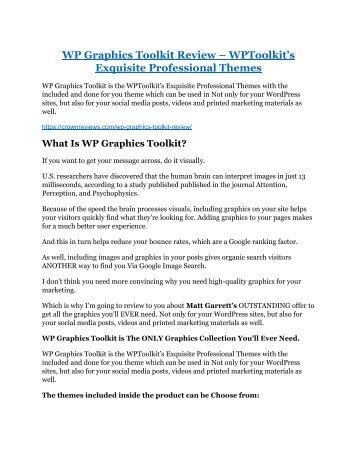 WP Graphics Toolkit Review and (MASSIVE) $23,800 BONUSES