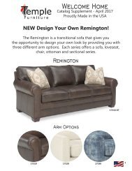 Temple Furniture's April 2017 Catalog Supplement