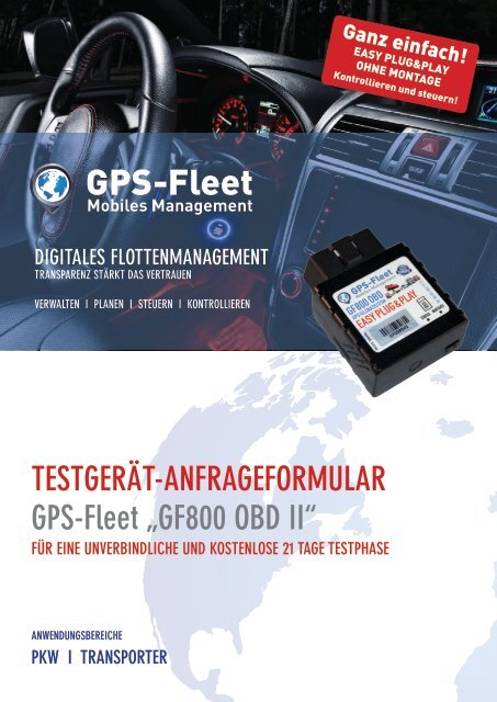 Testgerätantrag GF800 OBD II