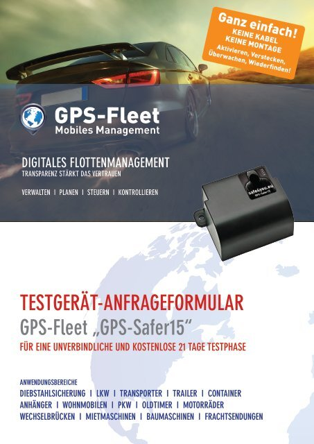 Testgerätantrag GPS-Safer15