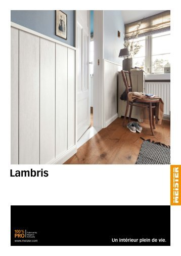 MEISTER Catalogue Lambris FR BE