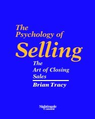 Psychology Of Selling - The Art Of Closing Sales - Brian Tracy