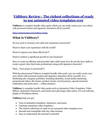 VidStory review & (GIANT) $24,700 bonus