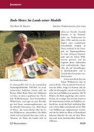 Bodo Meier: Im Lande seiner Modelle -