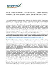 Night Vision Surveillance Cameras Market - Global Industry Analysis, Size, Share, Growth, Trends and Forecast 2016 – 2024