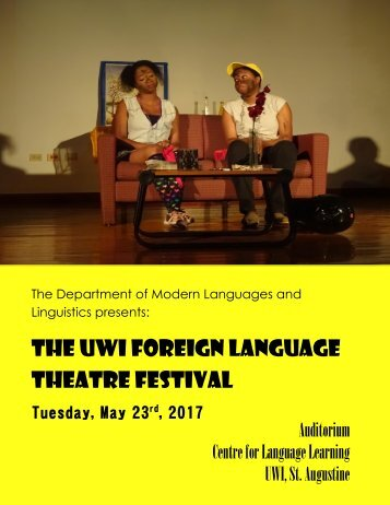 UWI Foreign Language Theatre Festival