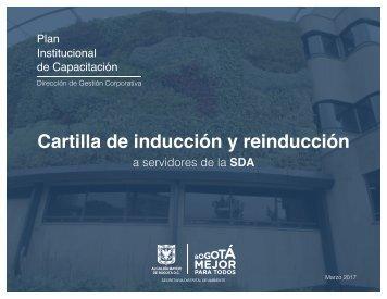 CARTILLA INDUCCIÓN 2017