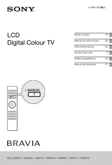 Sony KDL-46NX713 - KDL-46NX713 Mode d'emploi