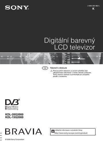 Sony KDL-15G2000 - KDL-15G2000 Istruzioni per l'uso Ceco