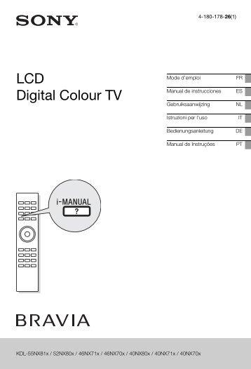 Sony KDL-46NX713 - KDL-46NX713 Mode d'emploi Espagnol