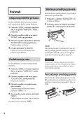 Sony CDX-GT574UI - CDX-GT574UI Mode d'emploi Serbe - Page 4