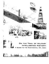 On the Trail of Military Intelligence History - Federation of American ...