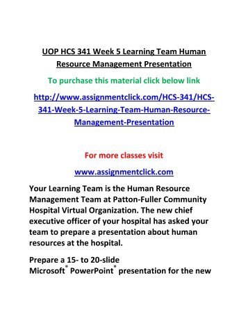 hcs 341 week 4 individual training Prepare a 700- to 1,050-word paper about training and education in health care include the following: explain why training and education are vital in health care explain the importance of measuring competencies describe the process for tracking and evaluating training effectiveness include a .