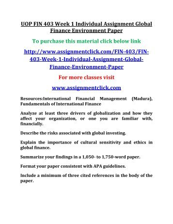 international financial environment essay International financial environment - international finance - quiz, exercises for international finance and trade gandhi institute of technology and management.