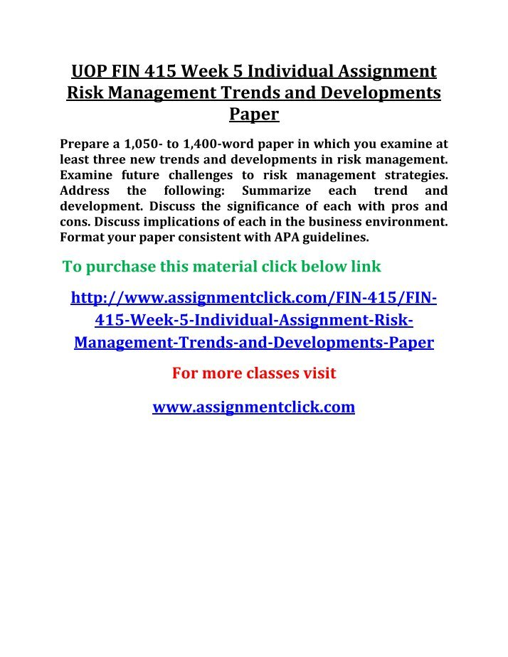 fin 415 week 2 lt risk We collected the majority of metadata history records for fin415week2ltriskmanagement-edupenio fin 415 week 2 ltriskmanagement edu pen has a poor description which rather negatively influences the efficiency of search engines index and hence worsens positions of the domain.