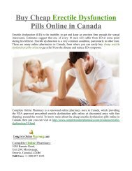 Buy Cheap Erectile Dysfunction Pills Online in Canada