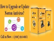 1 (800) 243-0051 How to Upgrade or Update Norton Antivirus