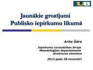 Jaunākie grozījumi Publisko iepirkumu likumā